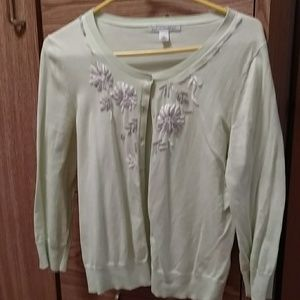 Gently used banana republic soft green sweater